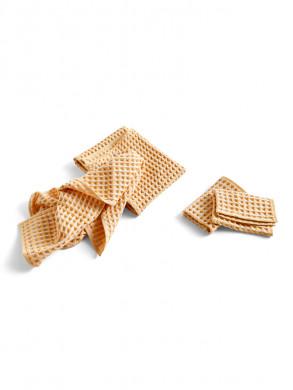 Twist dish cloth towel egg yellow