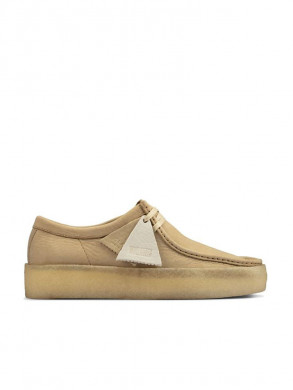 Wallabee cup shoe nubuk maple