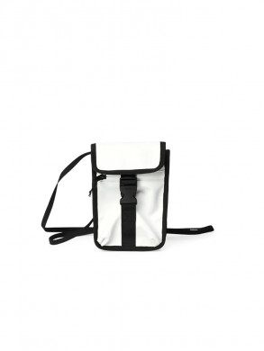 Buckle money pouch off white