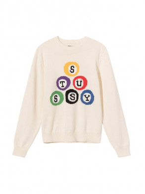 Stussy billard pullover natural