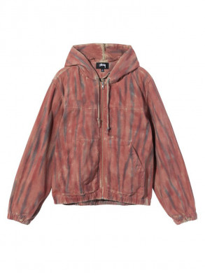 Dyed work jacket rust