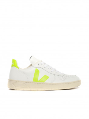 V10 leather sneaker jaune fluo