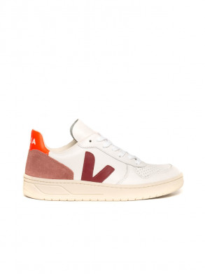 V10 leather sneaker wht marsala pet
