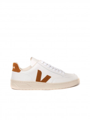 V12 leather sneaker white camel