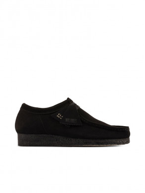 Wallabee moccasin black suede