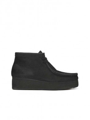 Wallabee wedge black nubuck
