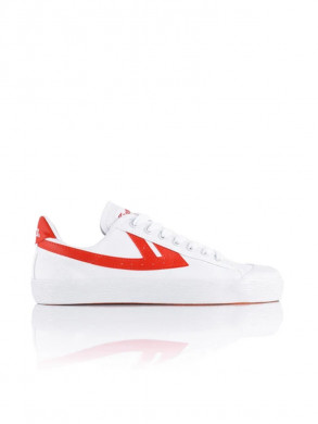 Iconic shanghai basketball sneaker wht red