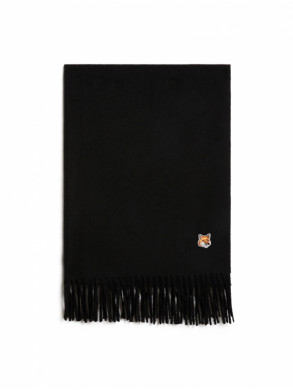 Wool scarf fox black