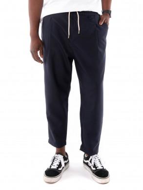 Wool cropped pants navy