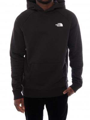 Raglan hoodie red box black