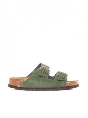 Arizona sandals green suede
