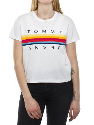 Multicolor line t-shirt white