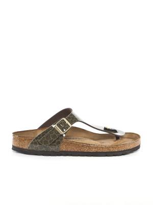 Gizeh sandals magic snake khaki