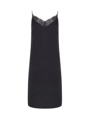 Camelia dress long black woven