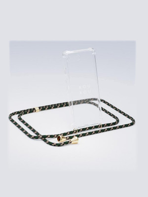 i Phone necklace XR green camo