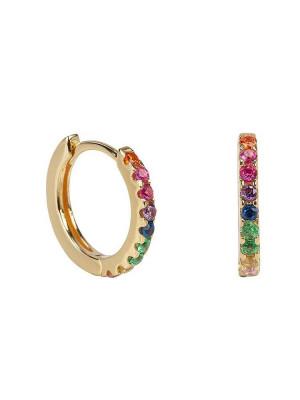 Rainbow earrings gold