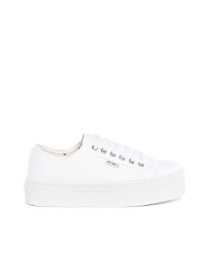 Blucher lona shoes blanco