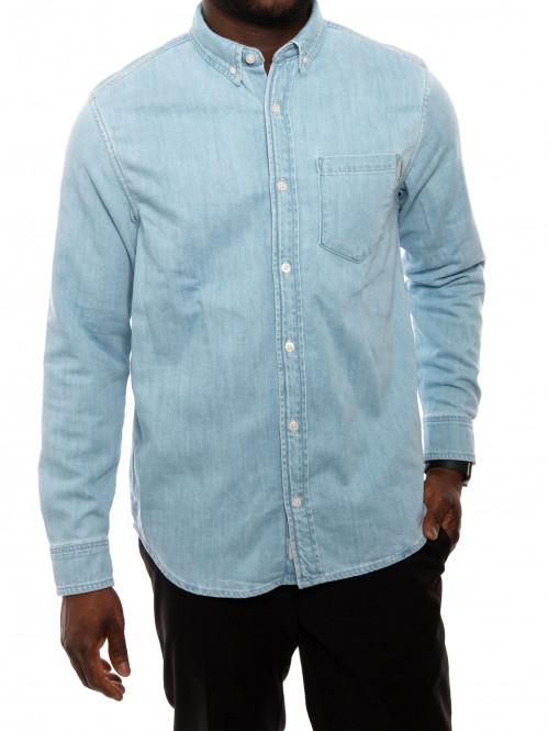 Civil shirt cotton blue bleach