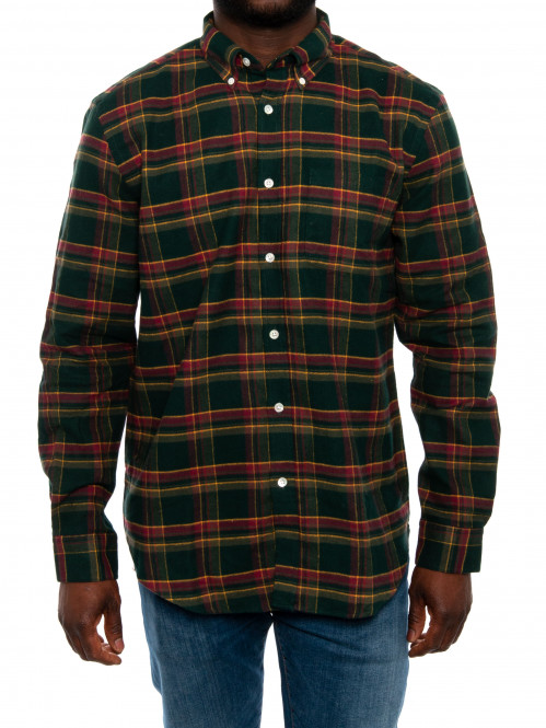 Billard shirt check green XL
