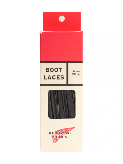 48 inch boot laces black waxed