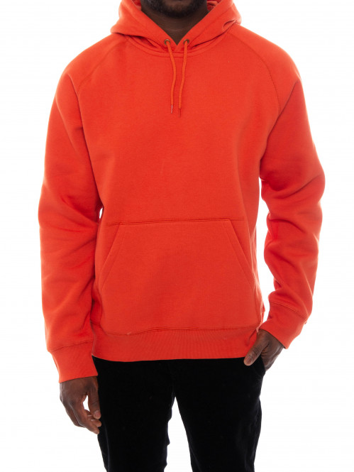 Hooded chase sweater brick