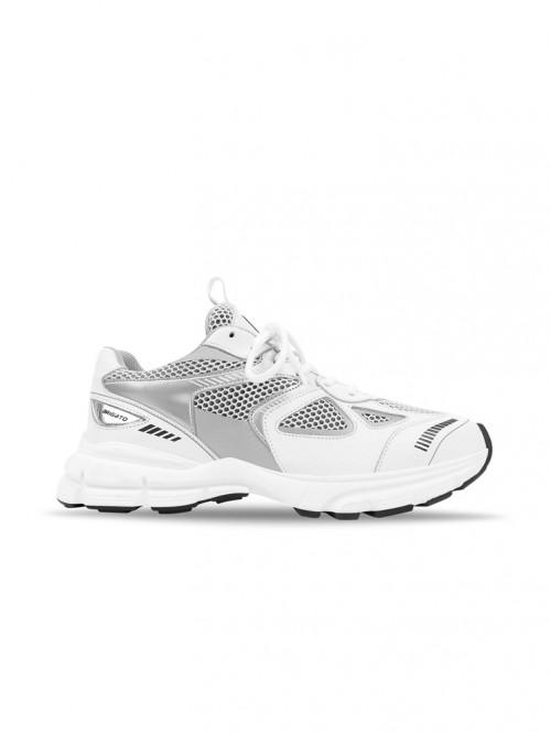 Marathon runner sneaker white silver