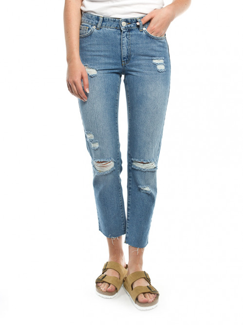 Eve straight mom jeans light blue