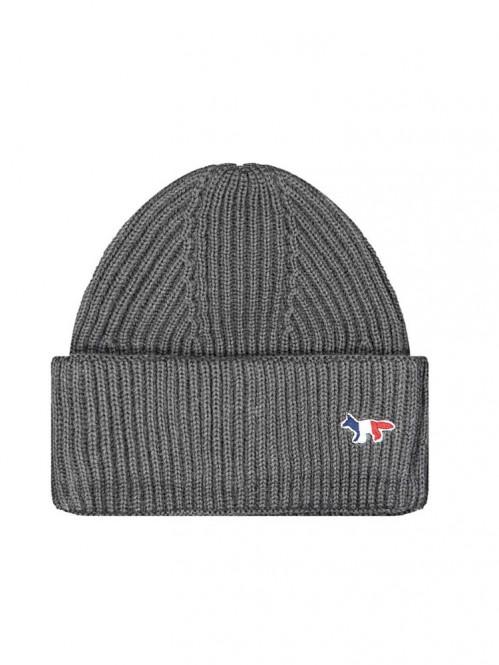 Ribbed hat fox patch grey mel