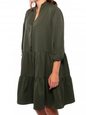 Fame mini check dress army 2 - invisable