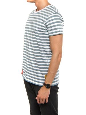 Kleinigkeit mitte t-shört stripe aquablue 2 - invisable