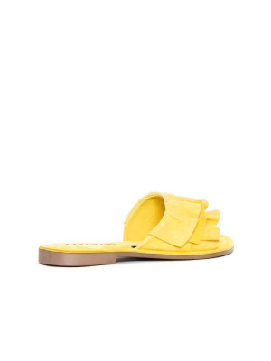 Suede leather sandals yellow 2 - invisable