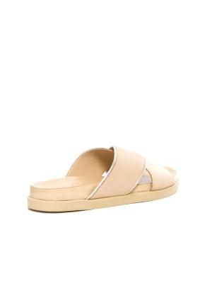 Cross sandal midi plateau beige 2 - invisable
