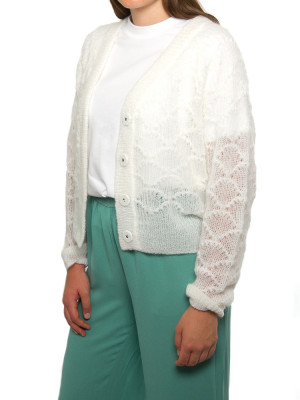 Palm knit cardigan off white 2 - invisable