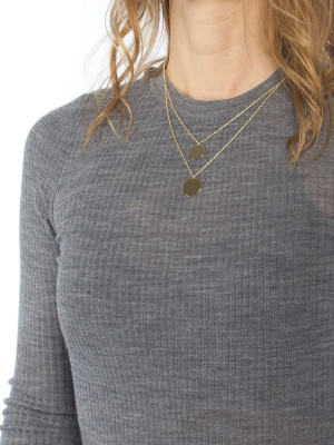 Double coin necklace gold 2 - invisable