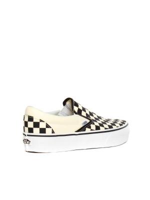 Classic slip on sneaker blk wht check 2 - invisable