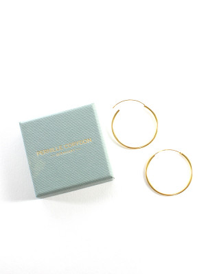 Plain hoops earring large gold 2 - invisable
