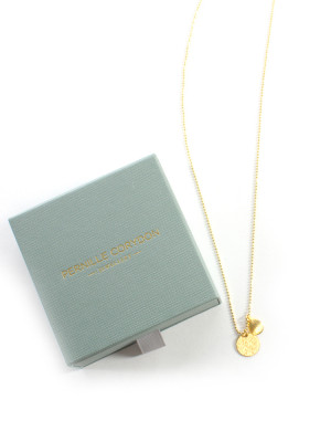 Coin and drop necklace gold 2 - invisable