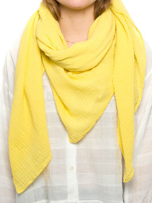 Cachecol musselin scarf yellow 2 - invisable