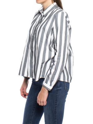 Ida blouse grey stripe 2 - invisable