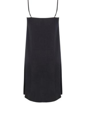 Camelia dress long black woven 2 - invisable