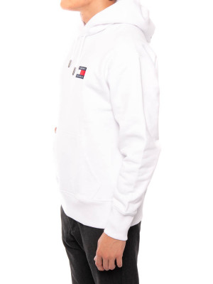 Tommy badge hoody white 2 - invisable