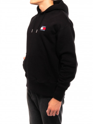 Tommy badge hoody black 2 - invisable