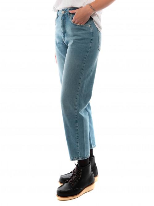 Cristi carrot jeans light blue