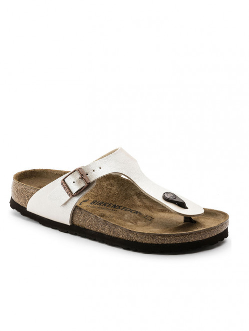 Gizeh sandals pearl white