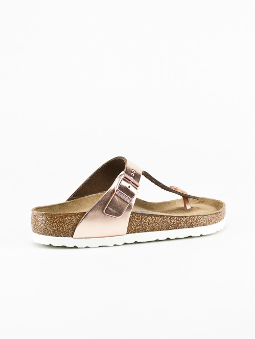 Gizeh sandals metallic copper