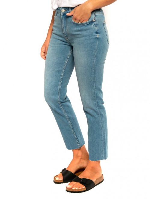 Luna crop jeans light blue