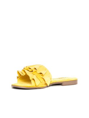 Suede leather sandals yellow 3 - invisable