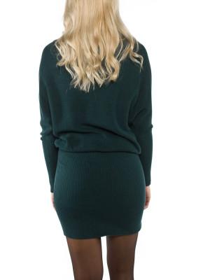 Bibi wool dress emerald 3 - invisable