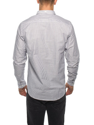 Anton oxford shirt magnet grey 3 - invisable
