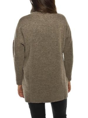 Lilo knit pullover castanho 3 - invisable